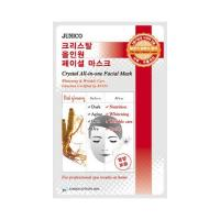 Deoproce - купить Маска тканевая c красным женьшенем Mijin Junico Crystal All-in-one Facial Mask Red ginseng, 24 мл на Deoprocemarket.ru